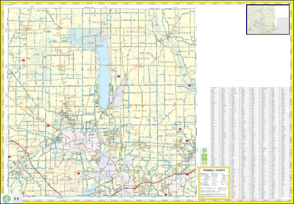 Front side of map.